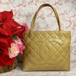 Authentic Chanel Leather Tote